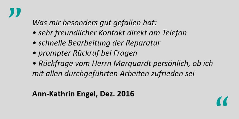 Kundenbewertung Jens Marquardt KFZ Service Lindwedel 5