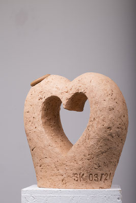 Keramik, 60 % Schamotteanteil, Lederartig