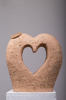Herz mit Deckel aus Buche, 1 Liter