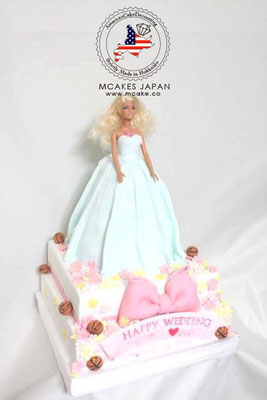 オーダーメイドケーキ、オリジナルケーキ《 バービーケーキ(ドールケーキ)》アメリカンケーキデコレーション