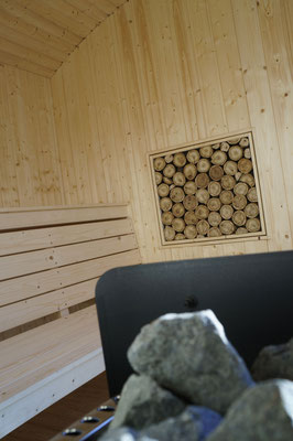 Wandbild in der Sauna