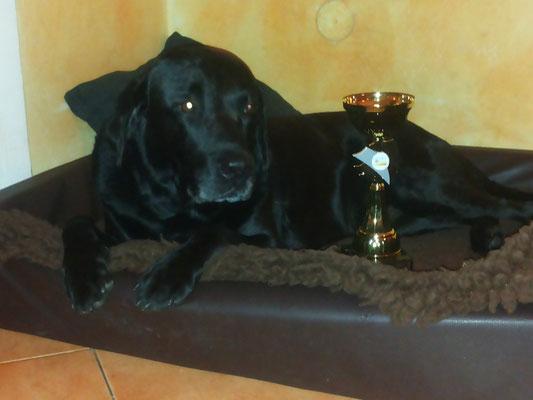 Clark mit seinem Senioren Pokal