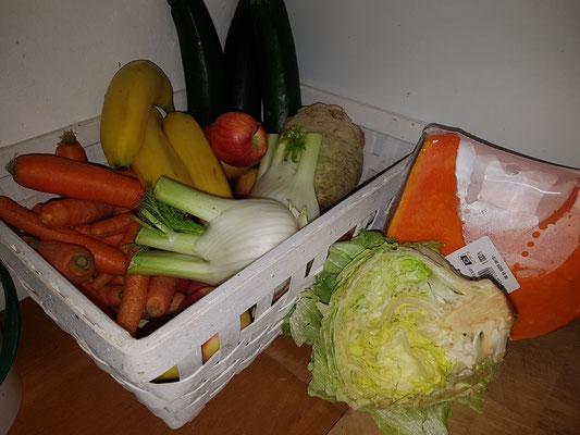 Gemüse für 1 Woche