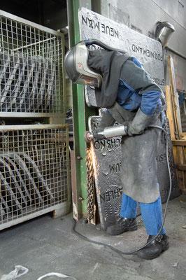 Nachbearbeitung der Eisengüsse