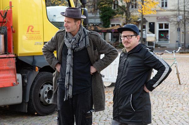 Mikos Meininger und der Architekt Frederic Urban