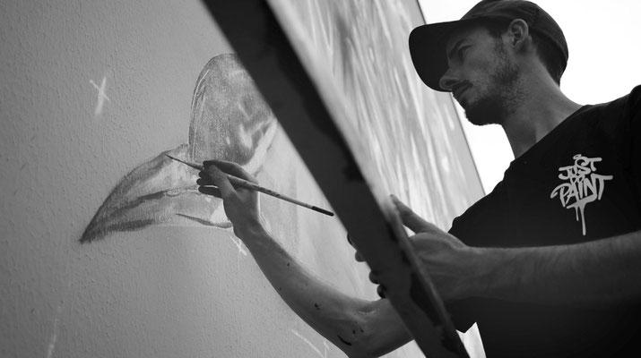 "<alt=""artiste peintre streetart graffiti déco murale intérieur extérieur art urbain GRAFFMATT artiste peintre sur mur"">"