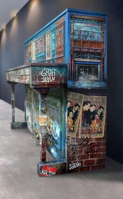 "<alt=""piano custom streetart graffiti music piano customisé personnalisé peint décoré peinture artiste peintre"">"
