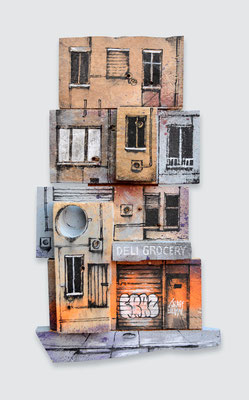 "<b>LITTLE URBAN FRAGMENT</b><br>31 x 18 cm<br><a style=""color:#db6464;"">Vendu<alt=""art peinture sur bois palette bois tableau d'art contemporain urbain streetart graffiti architecture urbaine originale graffmatt chambéry savoie lyon paris france"">"