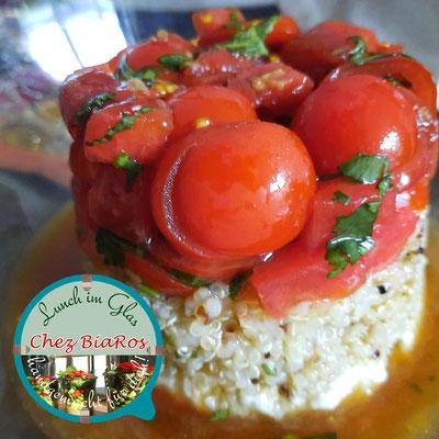 Scharfe Tomate-Melone Salat