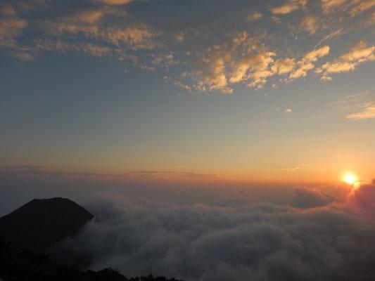 Sonnenuntergang von Volcano Santa Ana