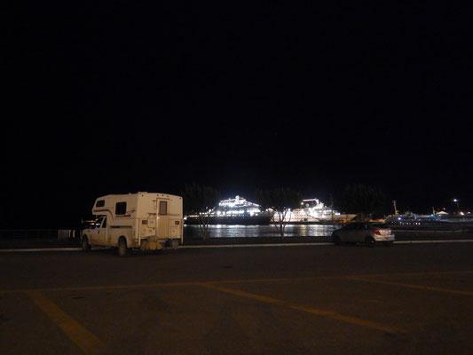 Schlafplatz am Hafen