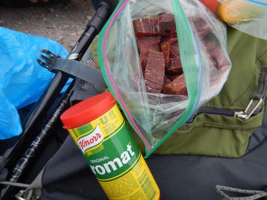 Bündnerfleisch und Aromat was für ein Wanderzmittag!