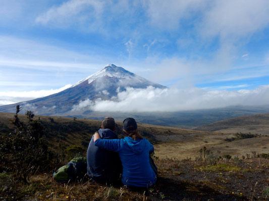 Perfekte Aussicht auf den Cotopaxi