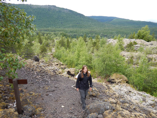 Wanderung durch Vulkanfelder