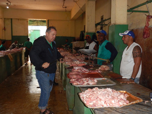 Metzgertisch am Markt