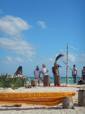 Mayahochzeit direkt am Strand