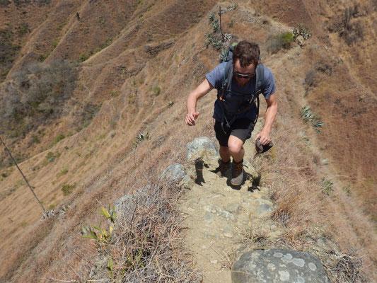 steile Passagen sind zu meistern