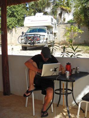 Blogschreibend