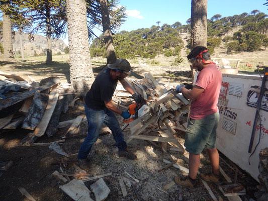 Es werden Unmengen an Feuerholz benötigt