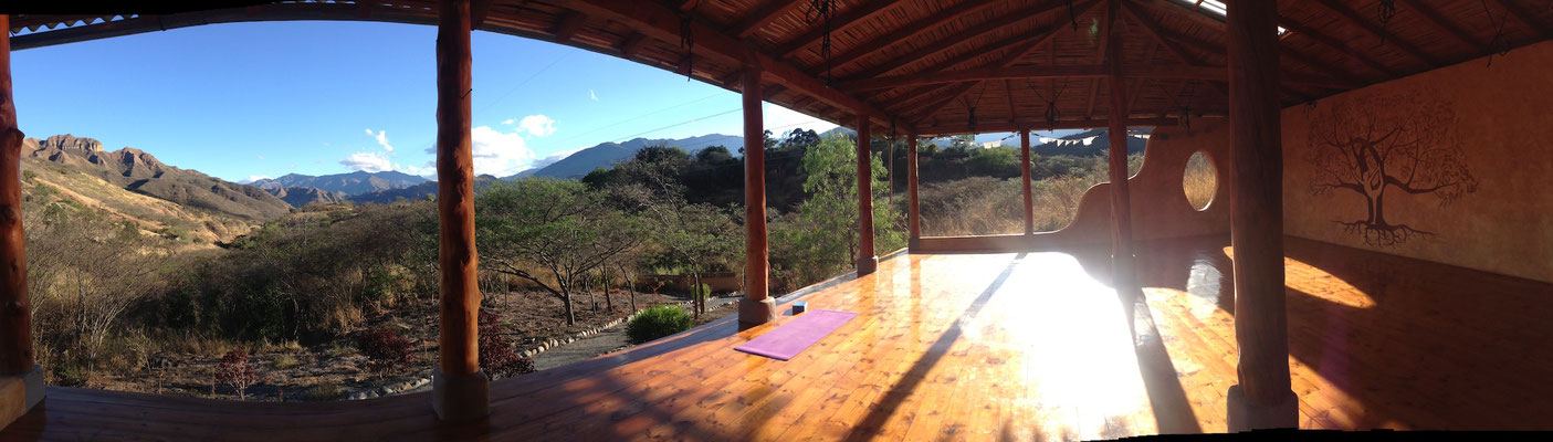 Yoga in traumhafter Umgebung