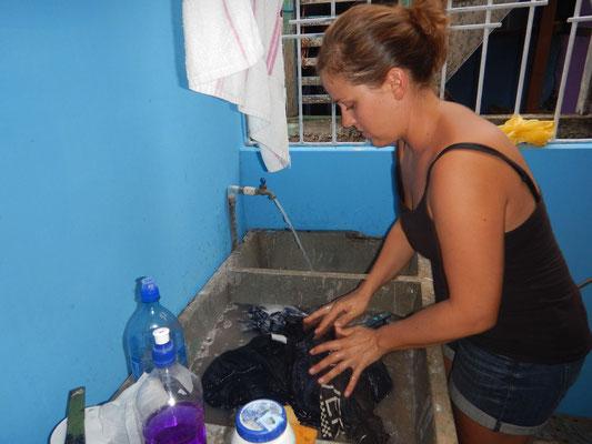 Wäschewaschen nicaraguanische Art