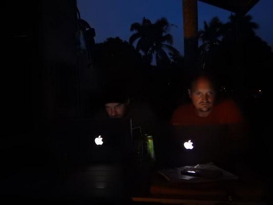 Verschiffungsvorbereitungen bis spät in die Nacht