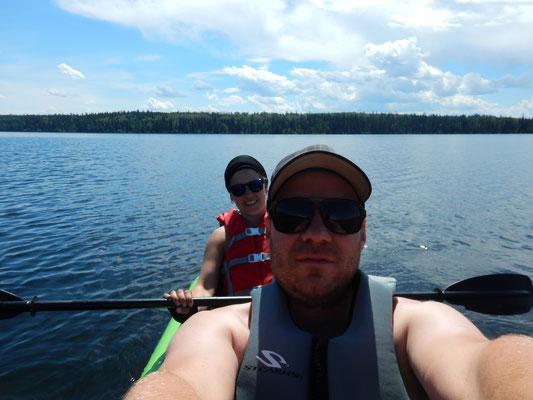 Die erste Kajaktour in Kanada auf dem Cobb Lake