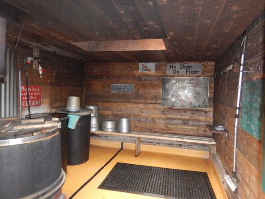 Aufgrund fehlendem Strom baute der Campingplatzbetreiber ein grossartiges Badehaus