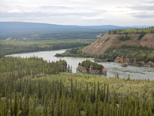 Fivefinger Rapids von oben betrachtet.