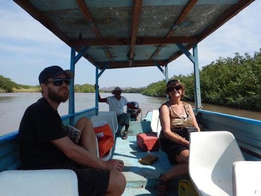 Bootstor auf dem Rio Tempisque