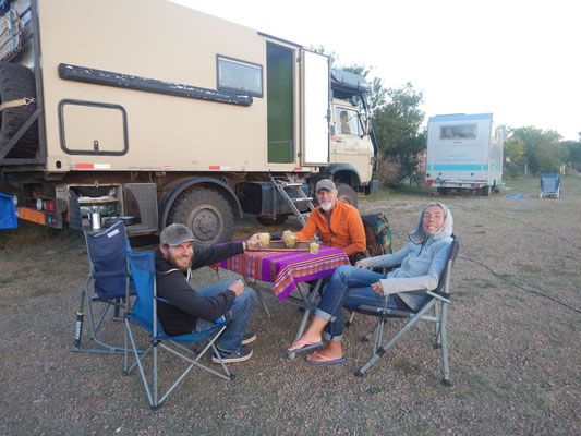wohlverdiente Pause mit Willi und Eva