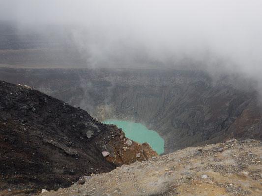 Ein kurzer Blick in den Kratersee