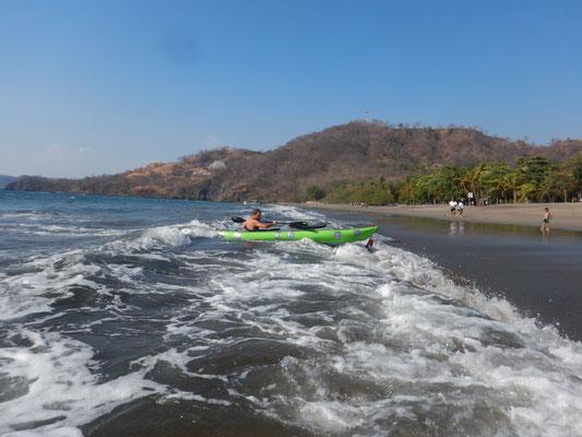 Kajaksurfen was für ein Spass