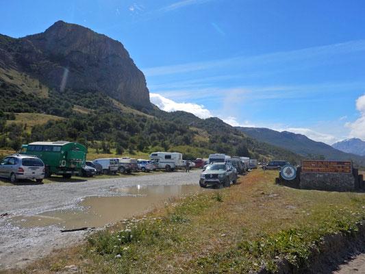 Parkplatz für Hagar am Trailhead