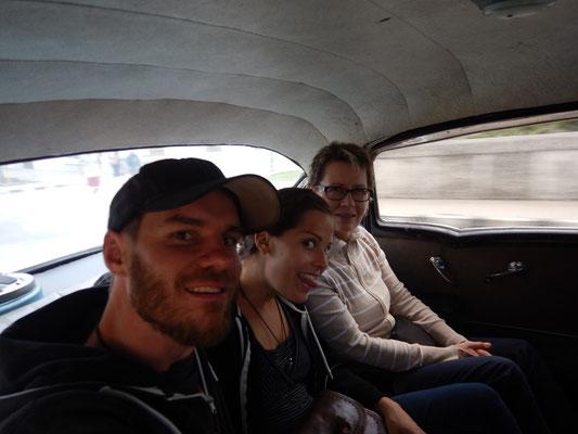 Taxifahrt im Chevrolet