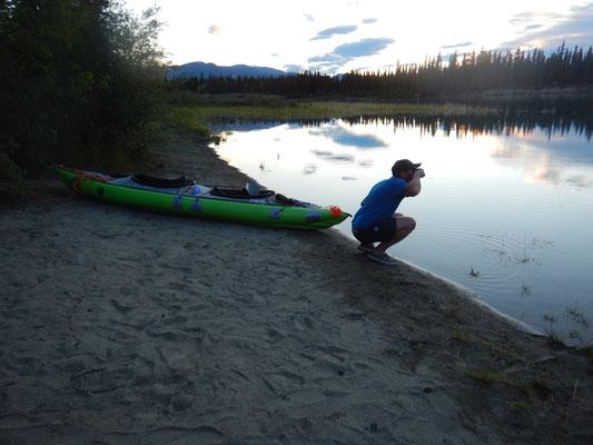 Zähneputzen am Yukon