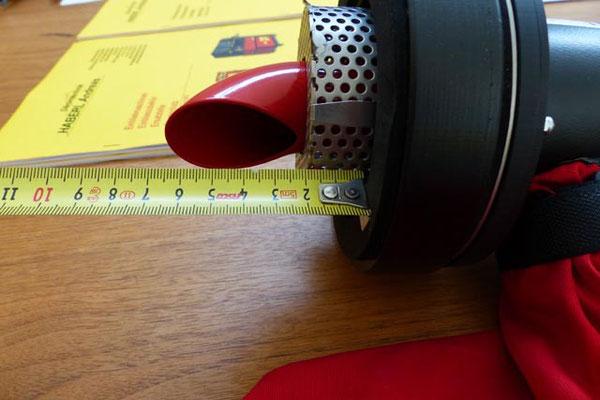 Maß Entlüftungskäfig mit 25 mm Distanzscheibe
