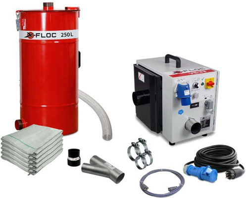 Verstärker- Absaugstation Komplettset mit 115/250l Saugfaß