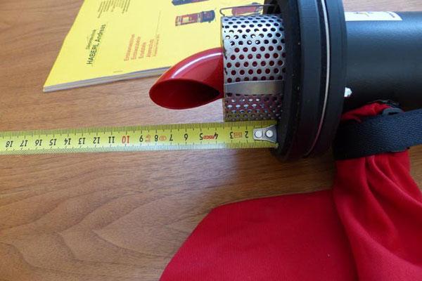Maß Entlüftungskäfig mit 10 mm Distanzscheibe