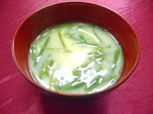 #ノビルの味噌汁