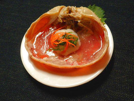 #カニ甲羅餅