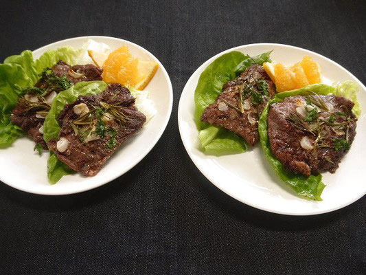 #牛肉のハーブ焼き #硬い牛肉でもハーブ焼きします。