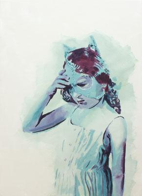 Sidekick – Mia, Öl auf Nessel, 90 x 65 cm, 2019