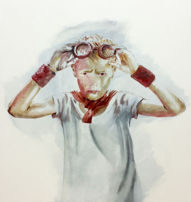 Sidekick – Luca, Öl auf Nessel, 90 x 85 cm, 2019