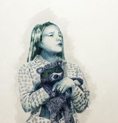 Sidekick – Charlotte, Öl auf Nessel, 90 x 85 cm, 2019