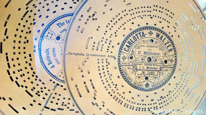 Castelfidardo, Museo della Fisarmonica - Dischi per scatole sonore