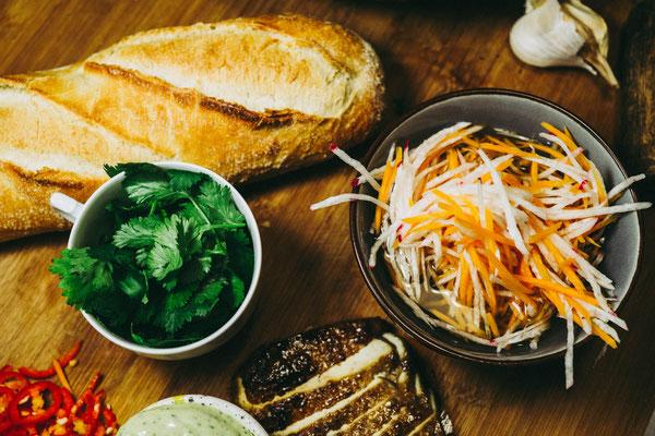 Banh Mi Kochstudio Bilou Foodblog marinierter Tofu