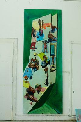 Corniglia, 2017, 300 x 110 cm