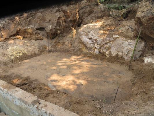 Planierter Fläche für das Fundament