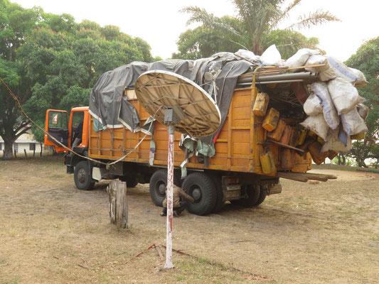 Lastwagen vollgepackt